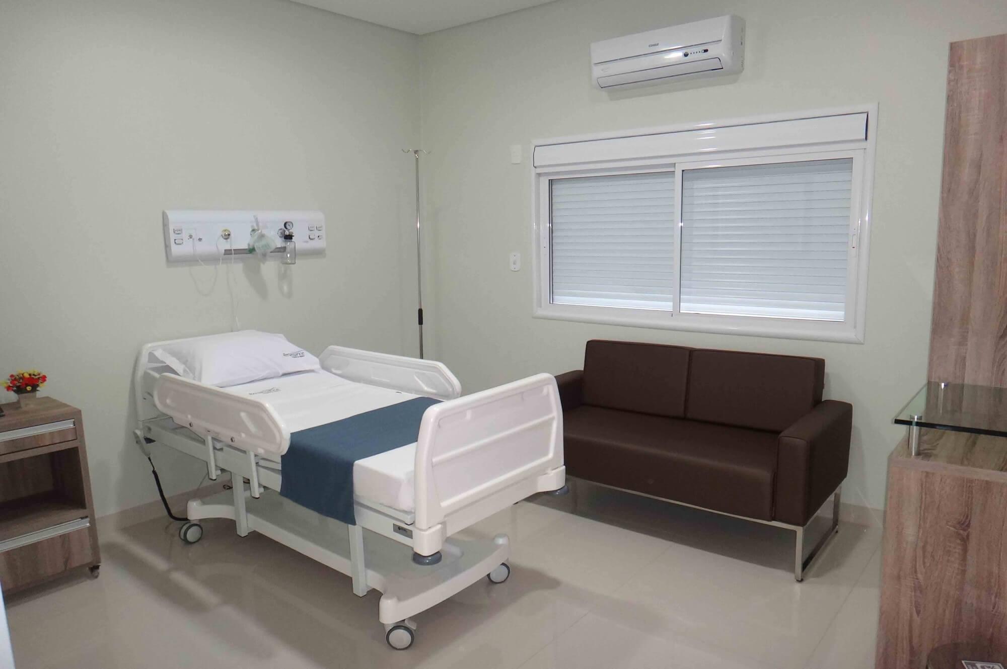 Quarto para repouso - Hospital da Plástica